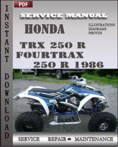 Honda TRX 250 R Fourtrax 250 R 1986 global