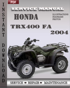 Honda TRX400 FA 2004 global