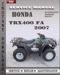 Honda TRX400 FA 2007 global