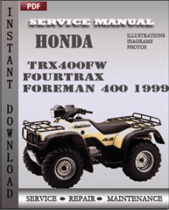 Honda TRX400FW Fourtrax Foreman 400 1999 global