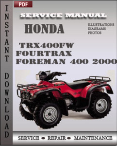Honda TRX400FW Fourtrax Foreman 400 2000 global