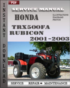 Honda TRX500FA Rubicon 2001-2003 global