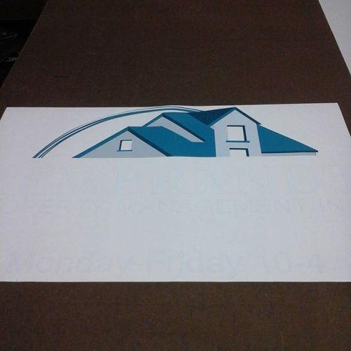 Vinyl print weeded