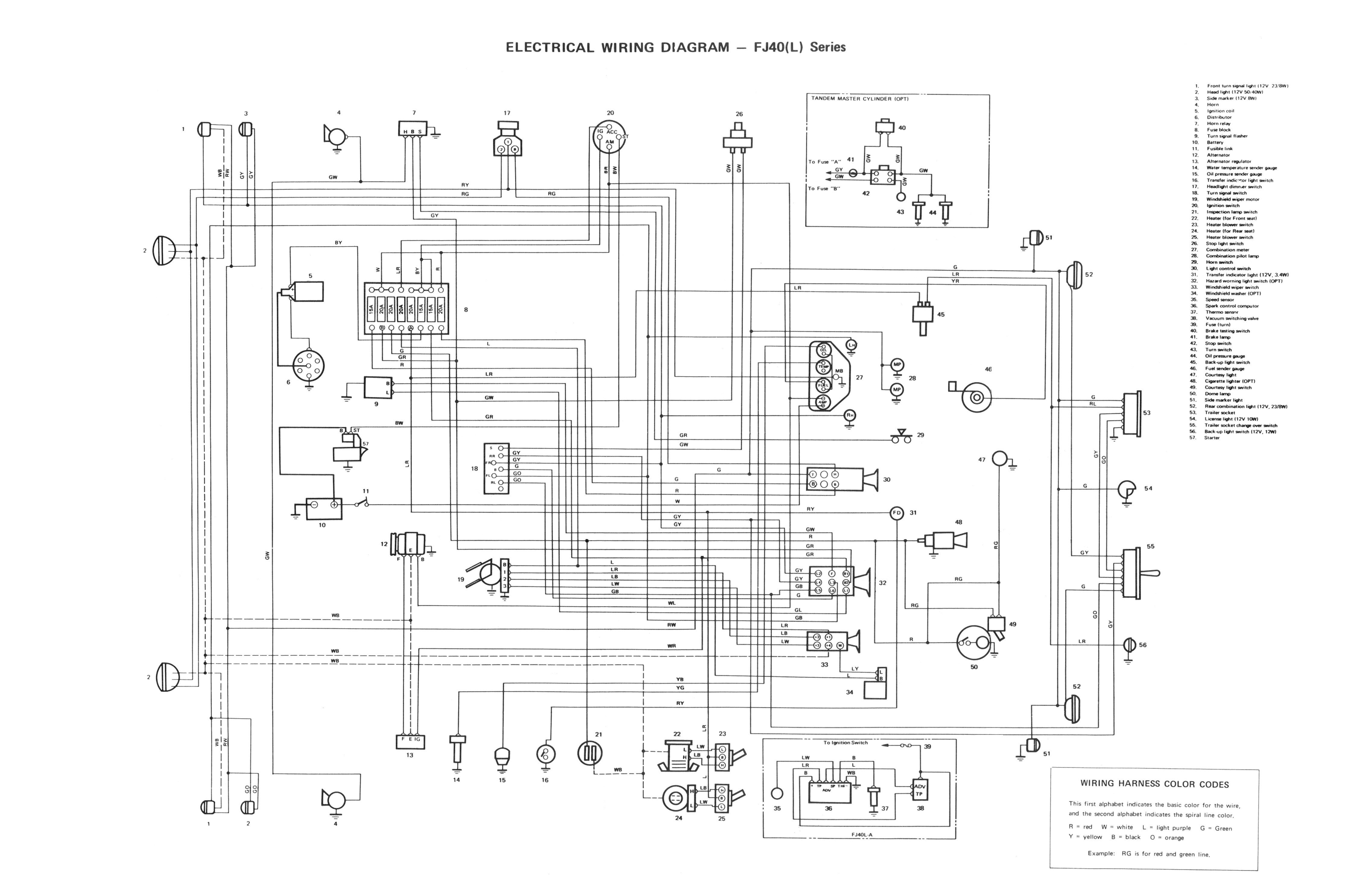 toyota wiring harness diagram 1971
