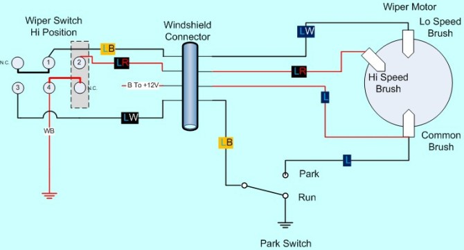 diagram of wiper motor  wiring diagram services •