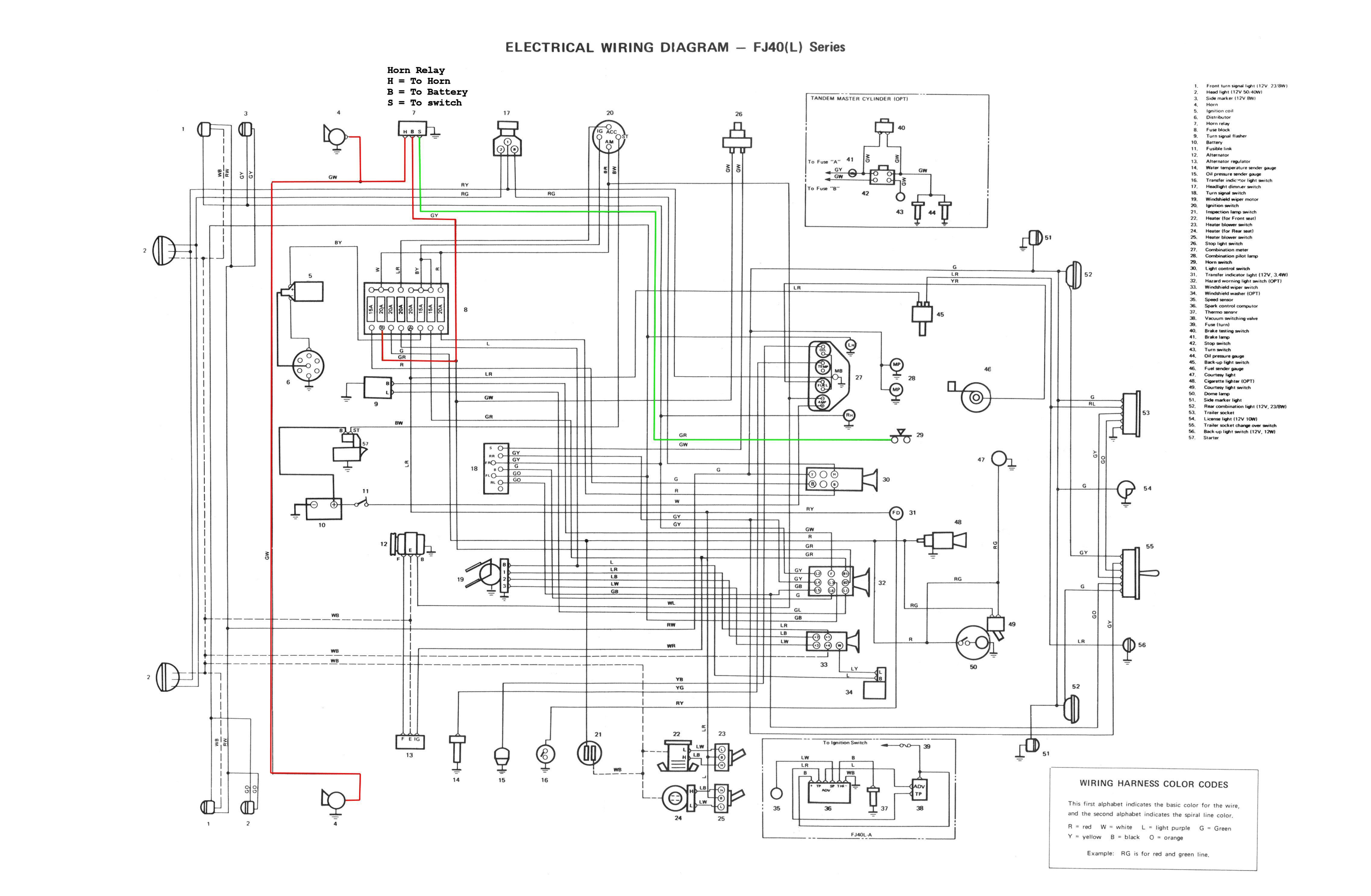 toyota land cruiser 1996 electrical wiring diagram ez go golf cart utility box horn troubleshooting
