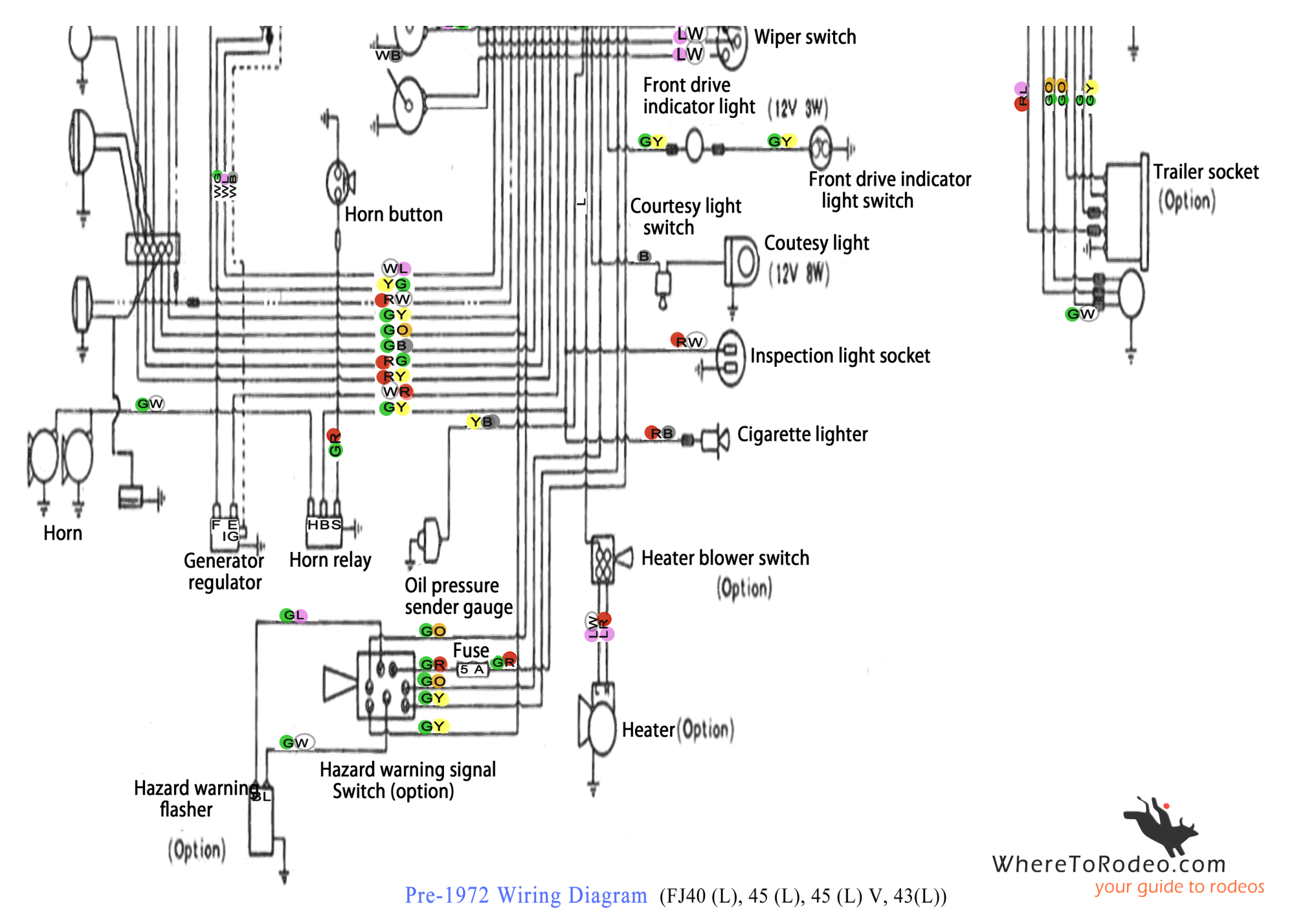hight resolution of coolerman u0027s electrical schematic and fsm file retrievalpre1972 fj40 wiring diagram2 png