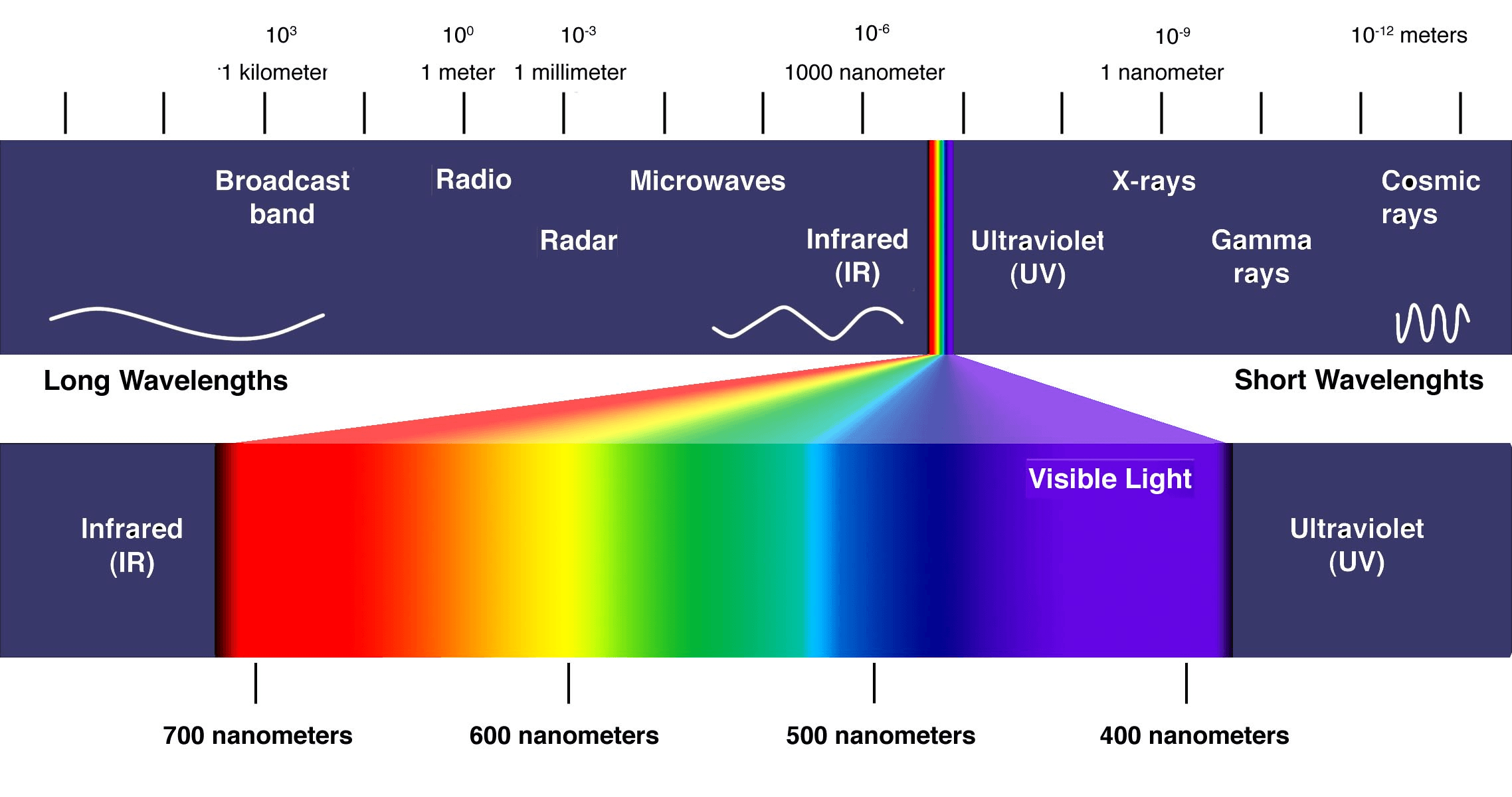 electromagnetic spectrum diagram labeled of teeth and their numbers achromats information engineering360