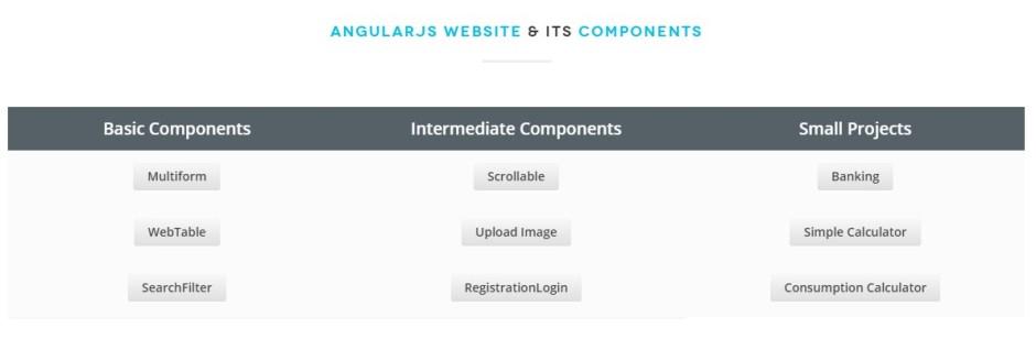 AngularJS Projects