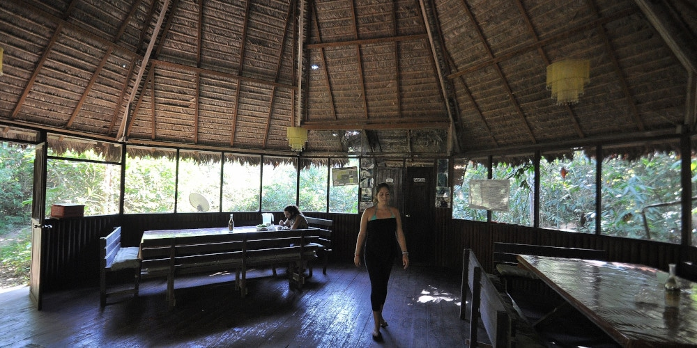 Dining area at the Peru Amazon Wildlife Project