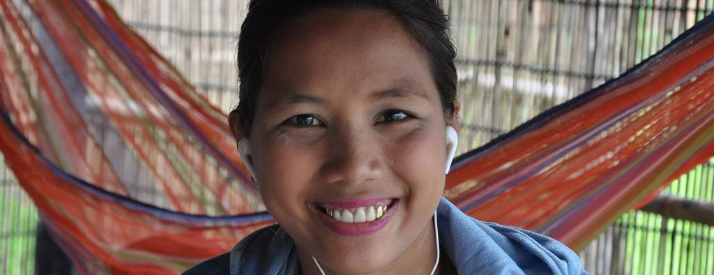 One of the women at the Cambodia Womens Empowerment Project
