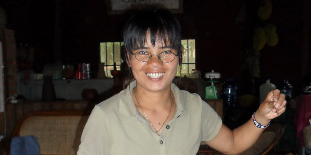 staff member at the Cambodia Indigenous People's project