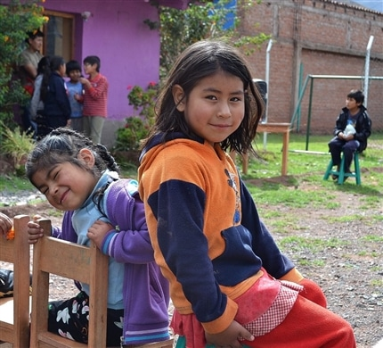 Children at The Peru Community Project