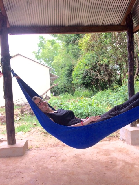 Volunteer relaxing in Siem Reap