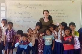 Teaching volunteer Siem Reap