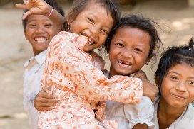 Children at the Cambodia community program