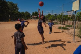 Kids playing at Sport Program Cambodia