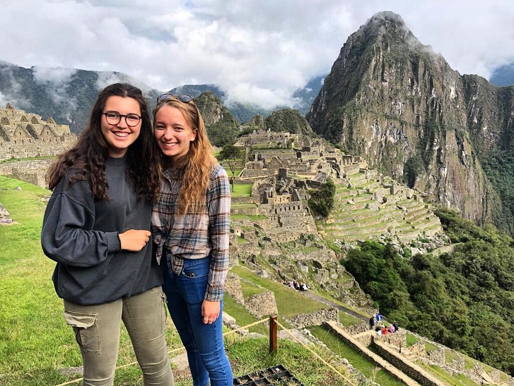 Interns at Machu Picchu