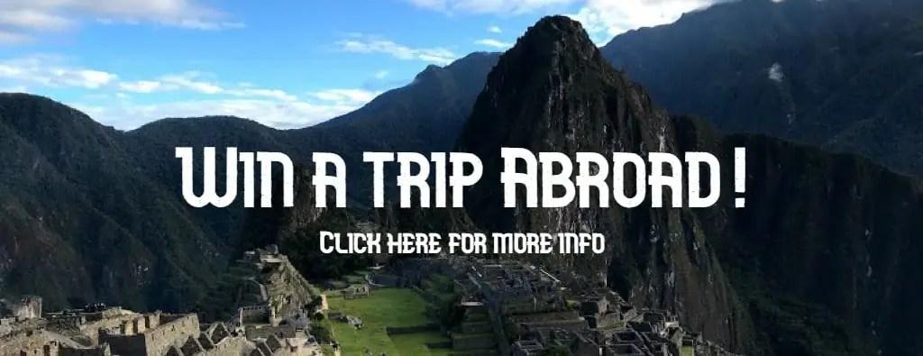 Machu Picchu abroad raffle