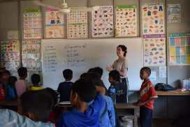Teaching Classes at Helping Hands