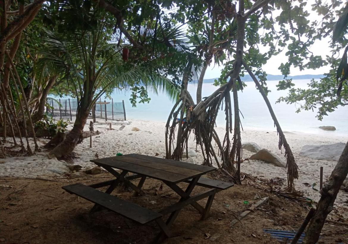 Relax by beach at Malaysia marine conservation project