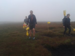 Flagging the race route