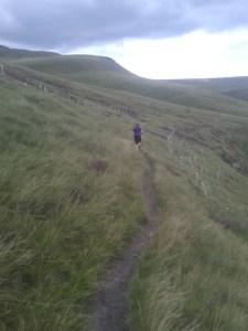 Amy enjoying a fell run during a personal training session Glossop Personal Training testimonial
