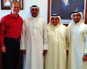 RUBBING ELBOWS WITH ROYALTY Bill Yeargin, CEO of Correct Craft, meets the President of the Prince's Council in Bahrain.
