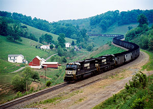 COMIN' ROUND THE MOUNTAIN Norfolk Southern recently opened three intermodal facilities and will open a fourth this year, bringing the rail line's total to 23 such facilities.