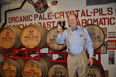 "KANPAI! Charles Finkel, president of The Pike Brewing Company in Seattle, says ""Not a week goes by when I don't get a call from someone in Taiwan, Singapore, Japan or Denmark,"" looking to import his beer."