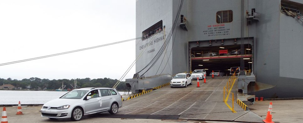 The Port of Jacksonville wins Volkswagen's business as its Southeastern U.S. distribution hub, where the international company will maximize its global trade potential by using the port to ship, import and process its vehicles.