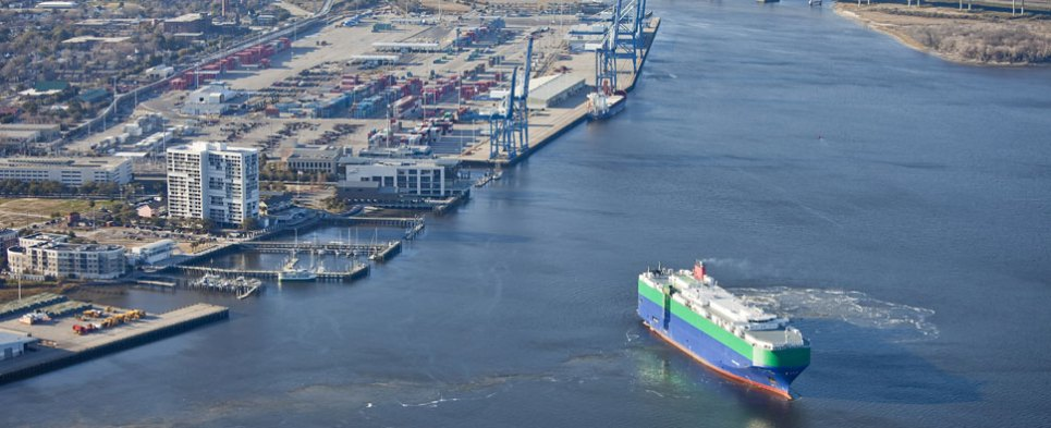 The South Carolina ports have handled more shipments of export cargo and import cargo in international trade this year.