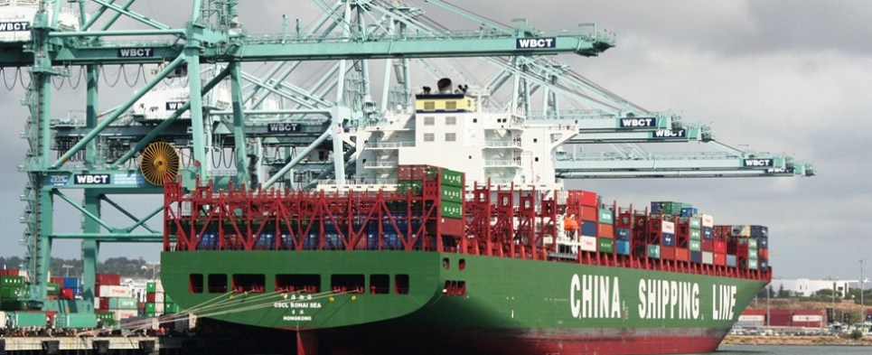 Order of new ships by China Shipping adds to glut in Asia-Europe trade where China economic slowdown has contributed to decrease in shipments of export cargo and shipments of import cargo.