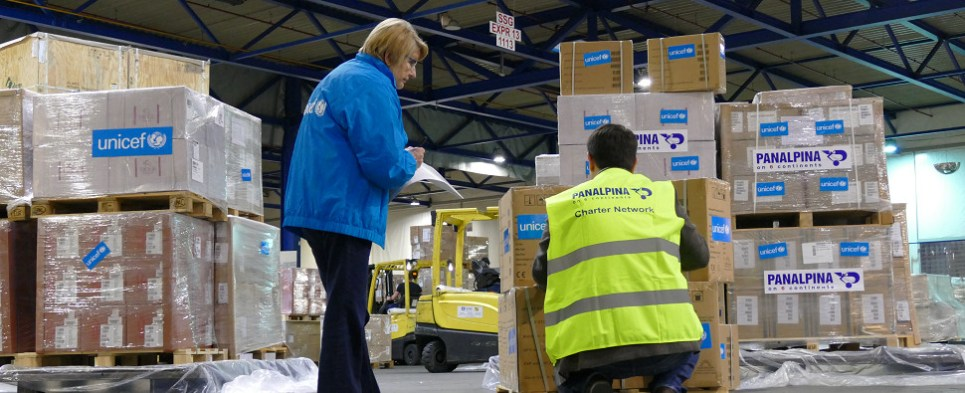 Panalpina humanitarian program delivers shipments of export cargo and import cargo of medical supplies in international trade.