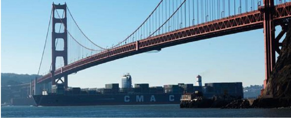 CMA CGM vessel carried shipments of export cargo and import cargo in international trade.