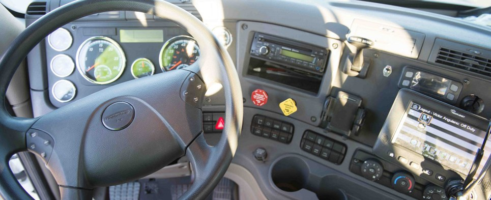 Truckers need to install electronic logging devices when carrying shipments of export cargo and import cargo in international trade.
