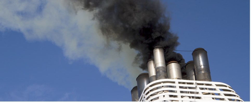 Vessel operator fined for polluting while carrying shipments of export cargo and import cargo in international trade.