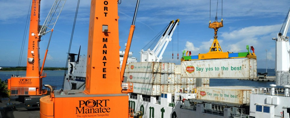 Port Manatee is handling more shipments of export cargo and import cargo in international trade.