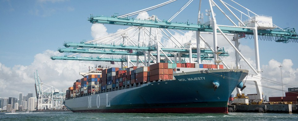 Intermodal services at PortMiami help speed shipments of export cargo and import cargo in international trade.