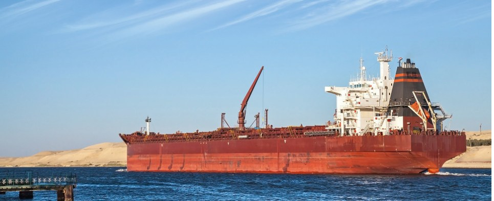 The Suez Canal carries shipments of export cargo and import cargo in international trade.
