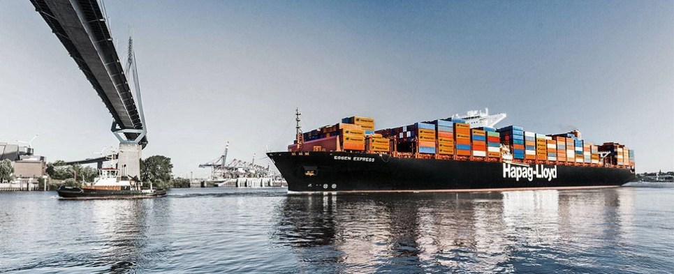 Hapag-Lloyd carries shipments of export cargo and import cargo in international trade.