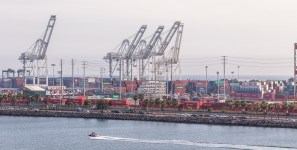 The port of Long Beach is taking steps to mitigate the environmental impacts of its handling of shipments of export cargo and import cargo in international trade.