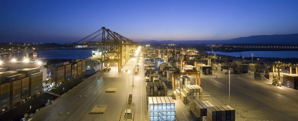 APMT in Elizabeth, NJ, expanding to handle more shipments of export cargo and import cargo in international trade.