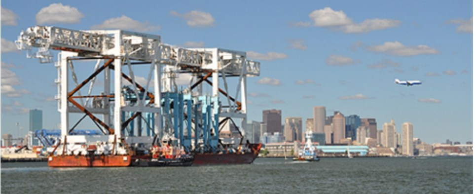 Port of Boston is handling more shipments of export cargo and import cargo in international trade.