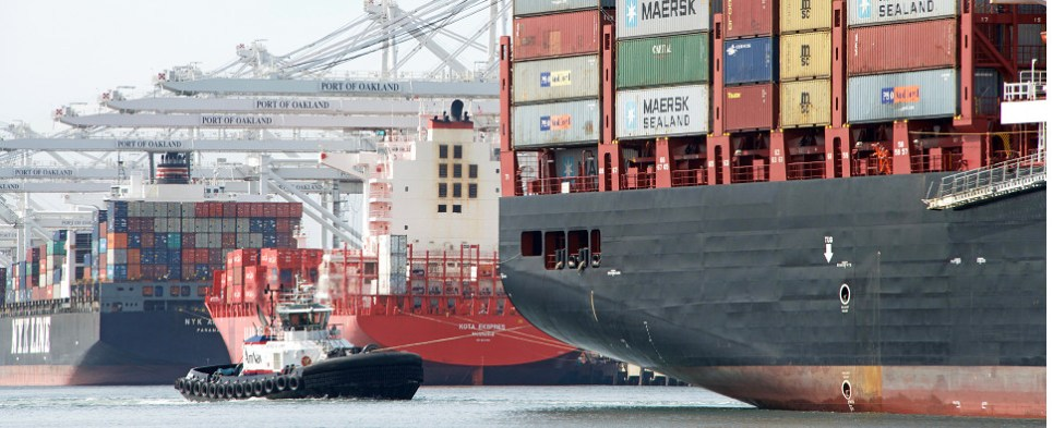 New service to port of Oakland to deliver shipments of export cargo and import cargo in international trade.