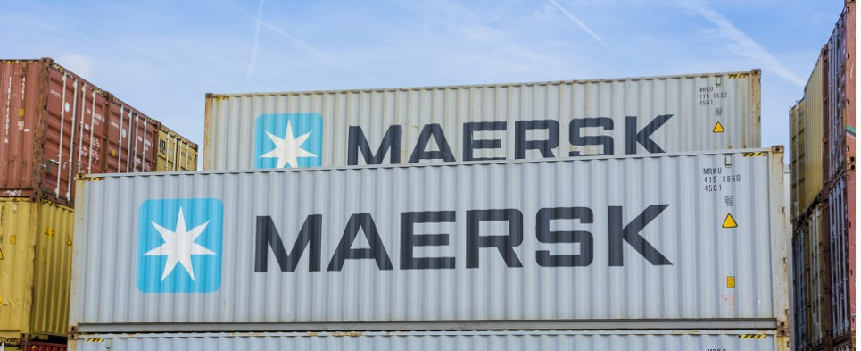 Maersk is using data analytics to improve the efficiency of container shipments of export cargo and import cargo in international trade.