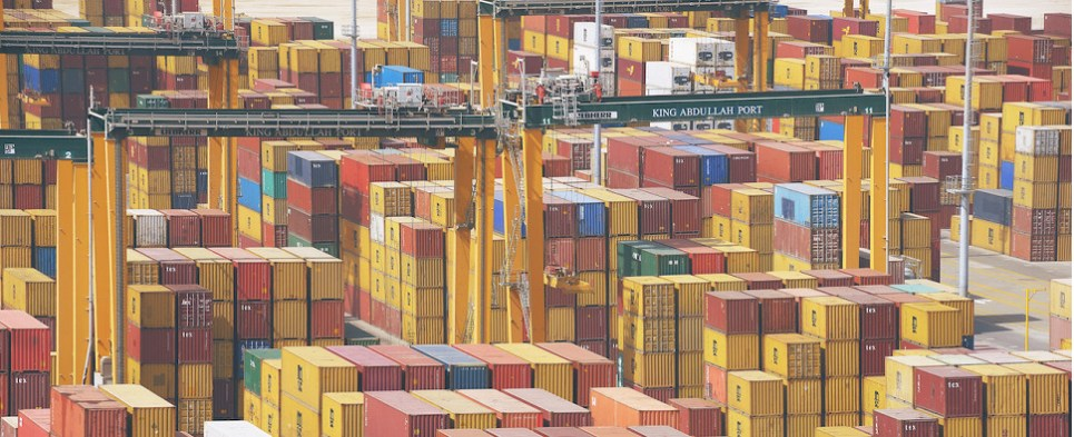 King Abdullah Port handling more shipments of export cargo and import cargo in international trade.