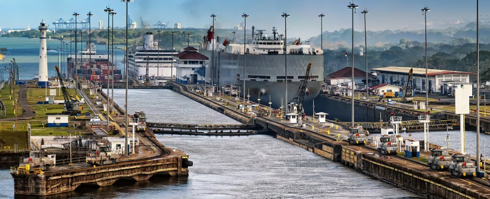 Panama Canal is not carrying expected shipments of export cargo and import cargo in international trade.