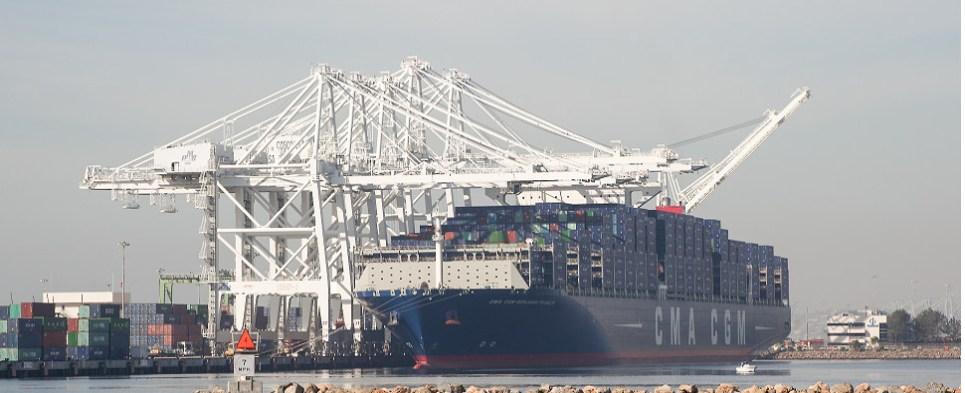 Khalifa Port reached milestone handling shipments of export cargo and import cargo in international trade.