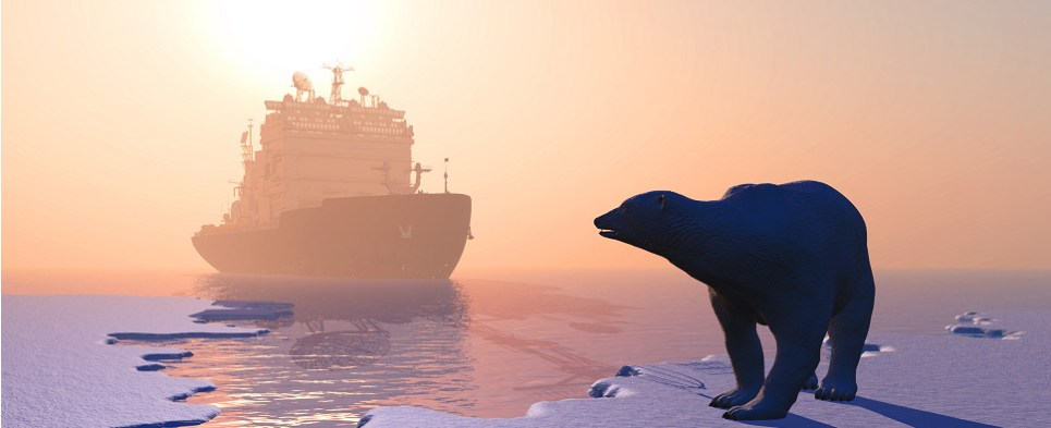 Melting ice opens Arctic for shipments of export cargo and import cargo in international trade.